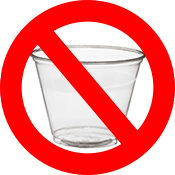 No cups at aid stations